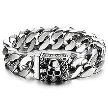 Men's Large Stainless Steel Chain Bracelet