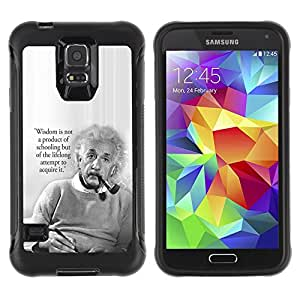 SHIMIN CAO@ Einstein Albert Science Quote Smart Man Rugged Hybrid Armor Slim Protection Case Cover Shell For S5 Case , G9006 Cover Case ,Leather for S5 ,S5 Cover Leather Case ,G9006 Leather Case