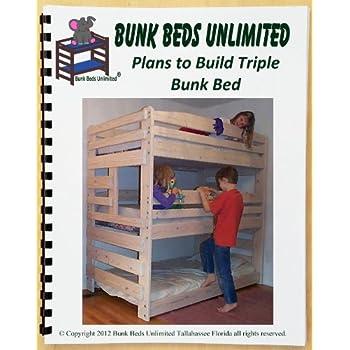Amazon Com Triple Bunk Bed Diy Woodworking Plan To Build