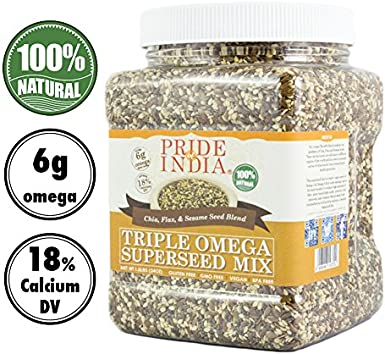 Pride Of India - Triple Omega Superseed Mix - 1,4 libra (635 g ...