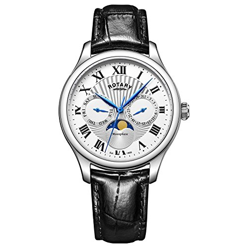 Rotary GS05065-01 Mens Timepieces Moonphase Black Chronograph Watch