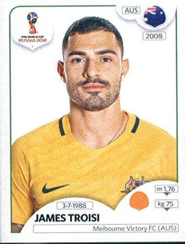 2018 Panini World Cup Stickers Russia #223 James Troisi Australia Soccer Sticker ()