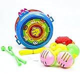 Leegor 1 Set Drum Instrument Musical Education Toy Hand Bells Toy Birthday Presents Safe Baby Developmental Toy