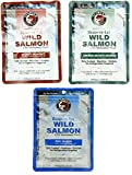 SeaBear Ready-To-Eat 3 Pack Variety Bundle - Wild Smoked Sockeye, Sockeye With Sea Salt, Pink Salmon; 3.5 Oz Each Pack