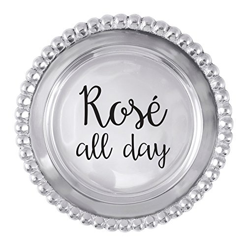 MARIPOSA Rose All Day Beaded Wine Plate ()