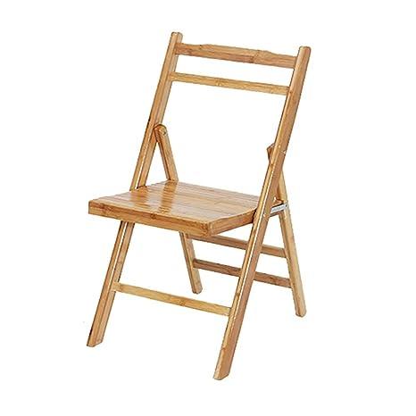 Amazon.com: YZQAH - Silla plegable de bambú y bambú portátil ...