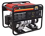 5000 Watt Portable Generator - Mi-T-M GEN-5000-0MK0 Portable Generator with 270cc Kohler OHV engine, 5000W , Red/Black