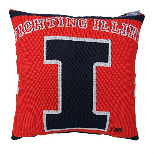 The Northwest Co. NCAA University of Illinois Woven Decorative Pillow, 20