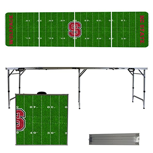 NCAA North Carolina State Wolfpack NC State Football Field Version 8' Folding Tailgate Table by Victory Tailgate