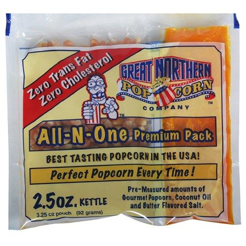 4098 Great Northern Popcorn Bulk Case (80) of 2.5 Ounce Premium Quality Popcorn Portion Packs 2 1/2oz