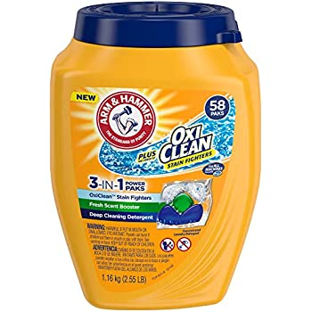 Amazon Com Arm Amp Hammer Plus Oxiclean 3 In 1 He Laundry