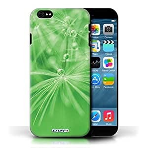KOBALT? Protective Hard Back Phone Case / Cover for Apple iPhone 6/6S | Green Flower Design | Floral Fairy Drops Collection by lolosakes