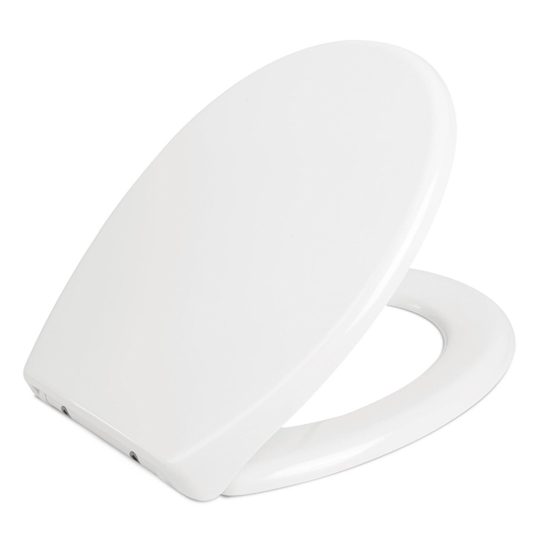HOMFA Tapa WC Asiento de inodoro Blanco Tapa Inodoro Wc con Amortiguado