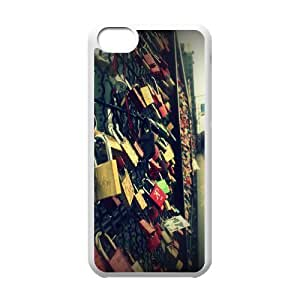 at Koln Love Bridge IPhone 5C Cases, Iphone 5c Case for Men Funny Design Evekiss - White