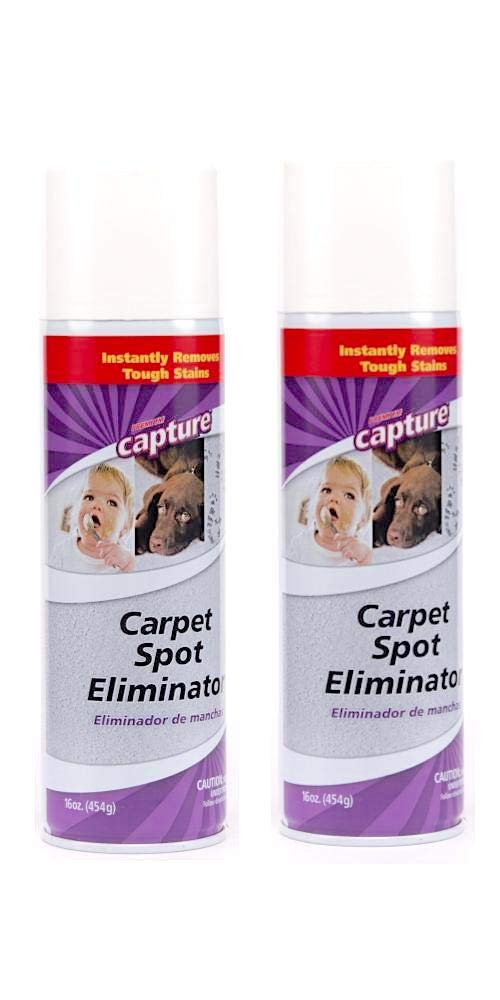 Capture Carpet Spot Eliminator-2 Pack_Treatment For Any Stain Including Grease and Oil Based Stains, Ink, Makeup, Lipstick, Carpets and Furniture by Capture