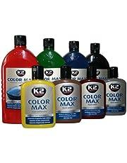 K2 Color Max politura do lakieru samochodowego, politura woskowa, politura z woskiem Carnauba, wielkość pojemnika: 200 ml; kolor: czerwony