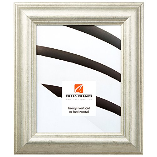 Craig Frames 88068 16 by 20-Inch Picture Frame, Smooth Wrap Finish, 2-Inch Wide, Antique Silver