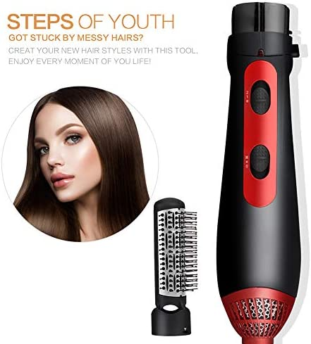Hot Air Brush, 3 in 1Comb Multi-Function Hair Dryer Comb for Salon&Home Styling Ceramic Hair Straightener Curler Dryer Comb  zH8AX