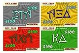 $100 Fraternity & Sorority Gift Cards