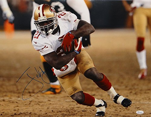 Frank Gore Autographed 16x20 Running On Frozen Turf Photo- JSA W Authenticated ()