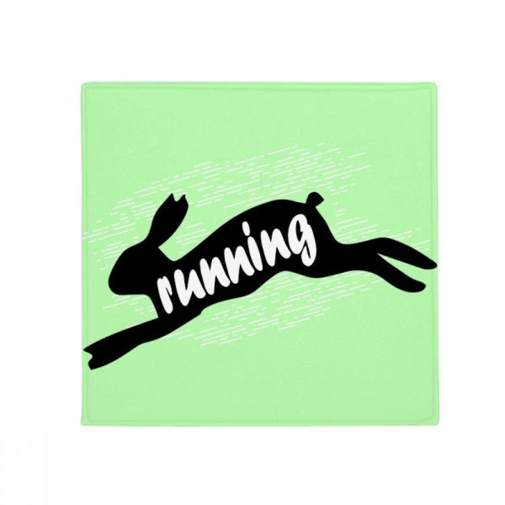 DIYthinker Black Animal Rabbits Silhouette Natural Anti-Slip Floor Pet Mat Square Home Kitchen Door 80Cm Gift
