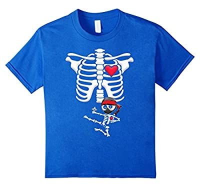 Maternity Baby Ninja Skeleton Halloween shirt