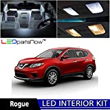 Nissan Rogue 2008-2014 Xenon White Premium LED Interior Lights Package Kit (6 Pieces) + TOOL