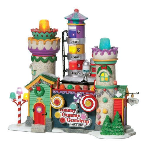 Department 56 North Pole Village Yummy Gummy Gumdrop Factory Lit ()
