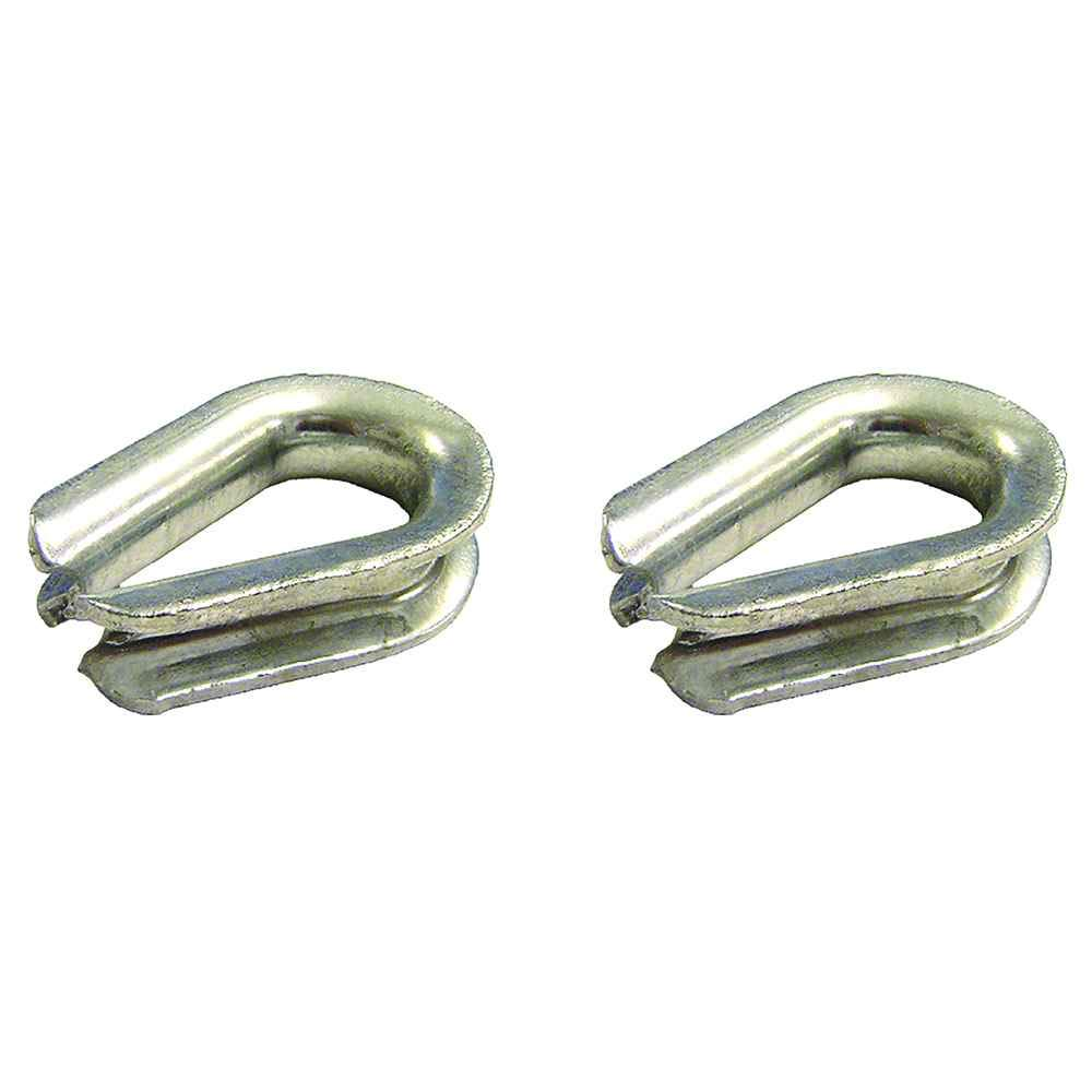 1'' Heavy Duty Galvanized Wire Rope Thimbles - 2 Pack