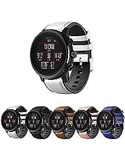 Pulseira Híbrida Couro e Silicone para Amazfit GTR 47mm - Samsung Galaxy Watch 46mm - Gear S3 Frontier - Gear S3 Classic - Marca Ltimports