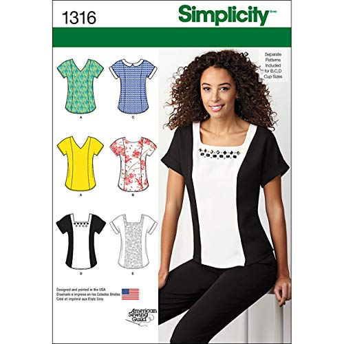 - Simplicity 1316 American Sewing Guild Women's Top Sewing Pattern, Sizes 14-22