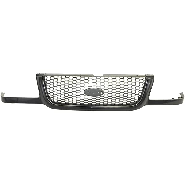 Perfit Liner New Front Silver Black Grille Grill Compatible With FORD Ranger 2001-2003 FO1200393 1L5Z8200AAG