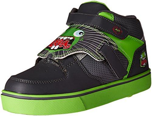 Heelys X2 Tornado - Sneaker con rotelle - grigio scuro/grigio chiaro/verde