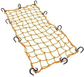 Powertye 15x30 Mfg Large Cargo Net featuring 10 Adjustable Hooks /& Tight 2x2 Mesh Orange