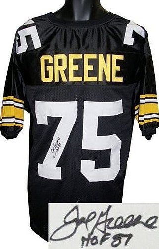 e65deb0bff9 Image Unavailable. Image not available for. Color  Joe Greene Signed  Autograph Black ...