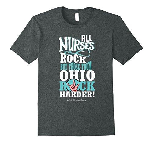 Mens Registered Nurse T-Shirt - Ohio Nurses Rock Gift 2XL Dark Heather (Nurses Rock)