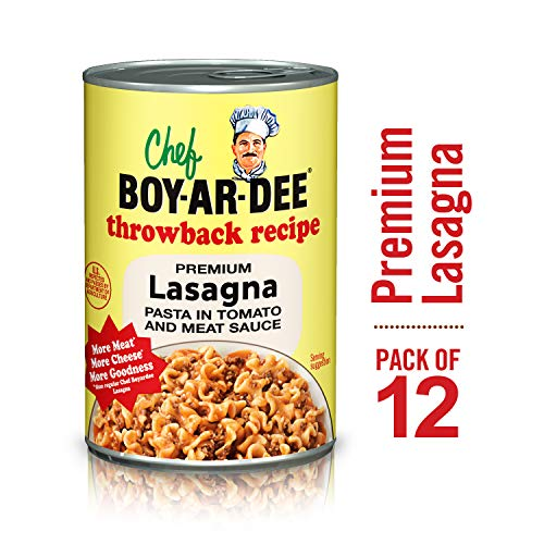 Chef Boyardee Lasagna Pasta in Tomato and Meat Sauce, 15 Oz, Pack of 12