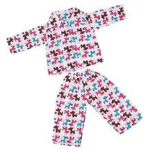 MonkeyJack Cute Cartoon Horse Printed Pajamas Sleepwear Set Outfit For 18'' American Girl Dolls Accessories