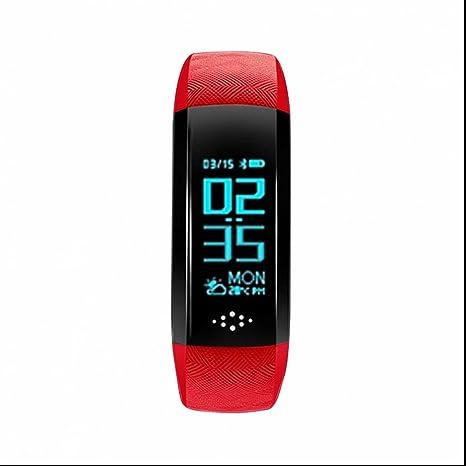 Pulsómetro Smart Pulsera Tensiómetro de medición Dormir Tracker Smart Monitor de la Salud Pulsera Fitness Reloj