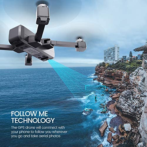 Potensic D88 Foldable Drone, 5G WiFi FPV Drone with 4K Camera, RC Quadcopter for Adults and Experts, GPS Return Home, Ultrasonic Altitude Setting, Optical Flow Positioning, 2 Battery 40min-Upgrade 51Tbdf9yrJL