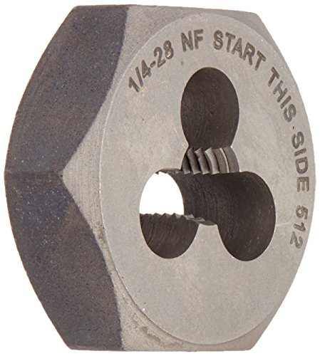 Vermont American 20769 1/4-Inch to 28 National Fine High Carbon Steel Fractional Heby - 28 Die Hex Nf