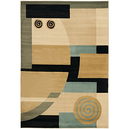 Safavieh Porcello Collection PRL6843-9091 Modern Abstract Art Black and Multi Area Rug (5'3