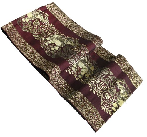 Nice Texture Huge Elephants Pattern Beautiful Bed Runner or Table Runner Decorative, Size 8x76 Inches by BangkokMarket