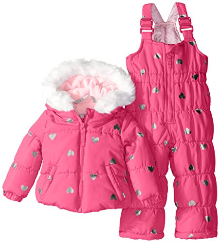 weatherproof-baby-girls-infant-foil-heart-print-puffer-snowsuit-pink-moon-12-months