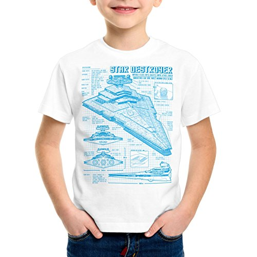Bleu A Empire Enfants T Stellaire n Blanc Destroyer shirt t Pour Dessin 6zrTq6
