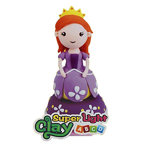 Xell DIY -Princess Sophia- Super Light Modeling Clay, Air Dry Musical Box Clay Doll Best for Children Ages 4 and up