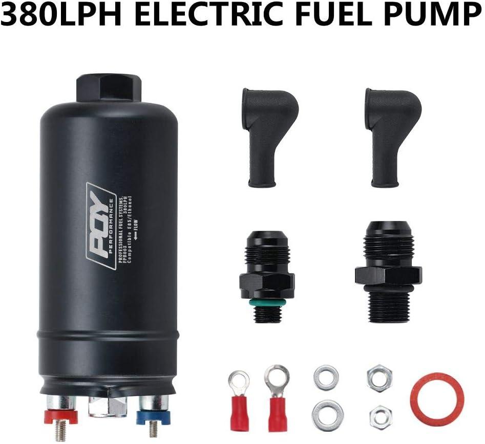 E85 compatible ethanol black Inline high flow fuel filter -6 AN
