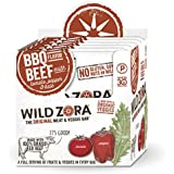 Wild Zora BBQ 100% Grass Fed Beef & Organic Veggie Bars (10 pack) - Gluten-Free, No Antibiotics, No Added Hormones