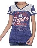 DET Tigers Womens V-Neck T-Shirt (Vintage Look)