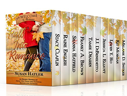 Fall Into Romance: A Boxed Set of 10 Heartwarming, Sweet Novellas by [Snitker, Melanie D., Claflin, Stacy, English, Raine, Hatfield, Shanna, Brown, Franky A., Dearen, Tamie, DiBenedetto, J.J., Elliott, Jessica L., Ho, Liwen Y., Welcome to Romance, Kit Morgan]